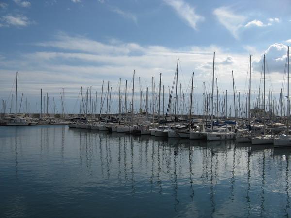яхты в порту Хаммамет