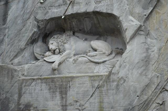 Люцерн. Памятник Умирающий лев