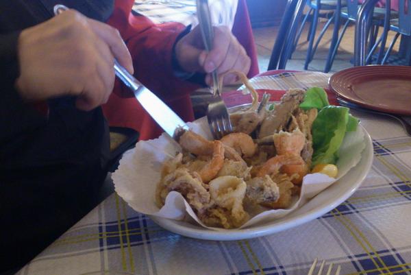 Генуя. В рыбном ресторане