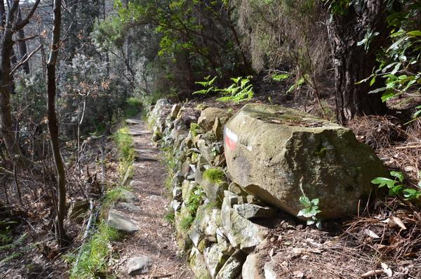 Тропа от Портовенере до Риомаджоре, разметка на камне