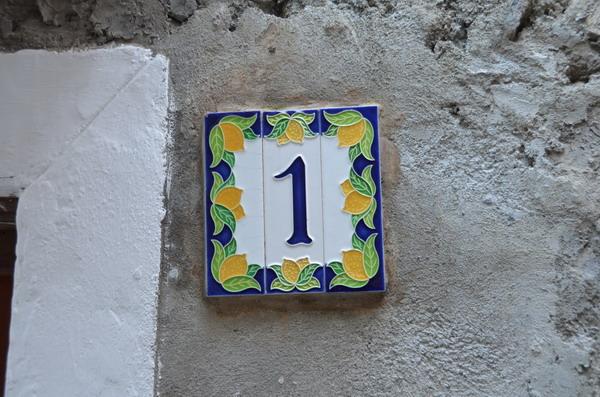 Нумерация домов в Портовенере