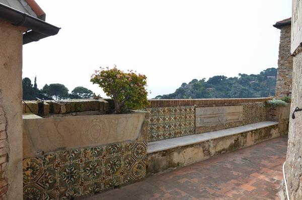 На террасе замка Браун в Портофино
