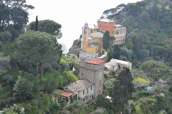 Вид на церковь Сан-Джорджо из замка Браун