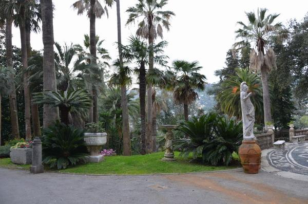 Вилла Дураццо, парк