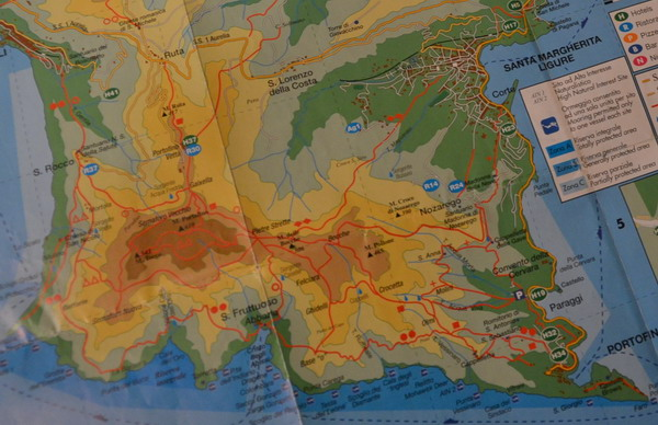 Схема маршрутов парка Портофино