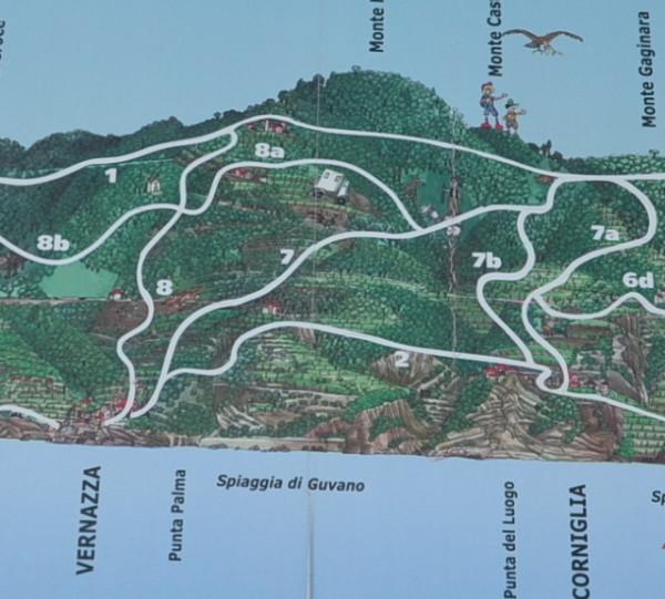 Схема троп Чинкве-Терре