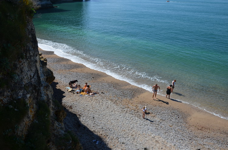 Песчаный пляж Этрета