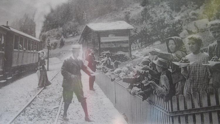 дорога в Церматт - старое фото