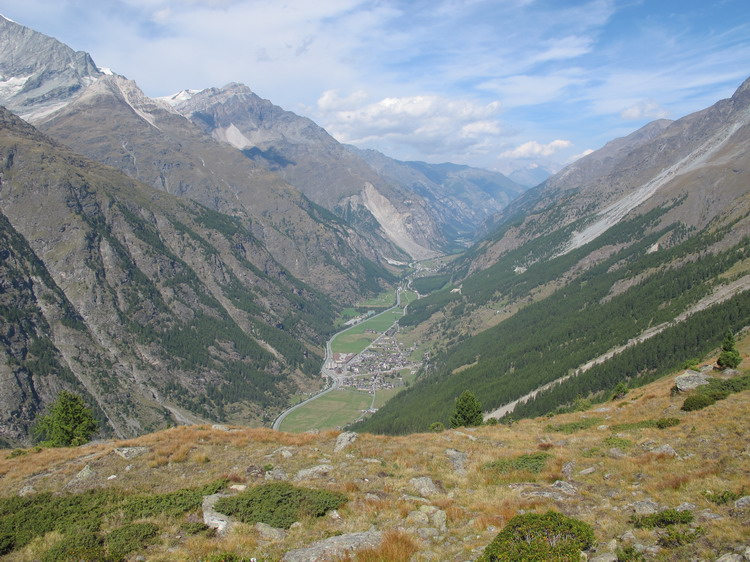 участок долины от Церматта до Таша