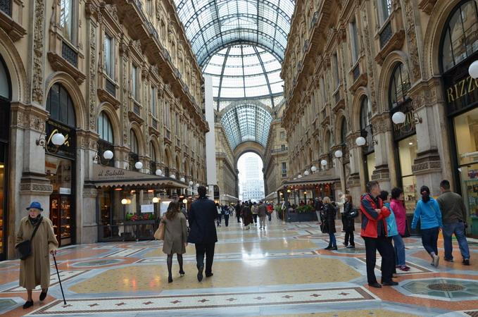 Милан. пассаж Витторио-Эмануилла II-го
