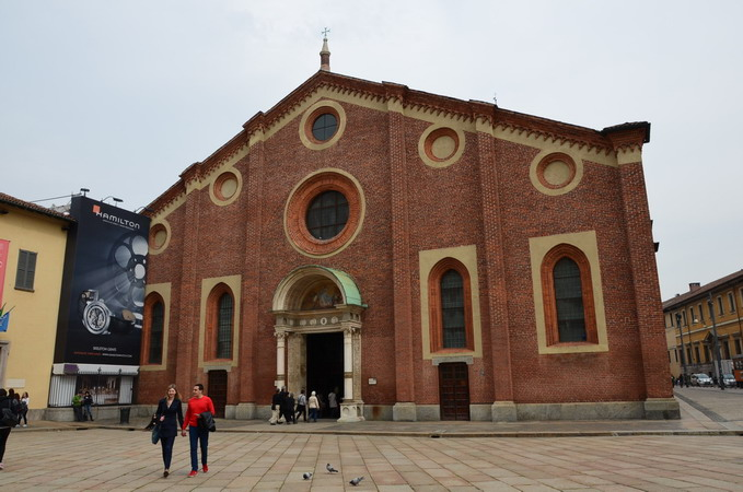 Милан.Церковь Санта-Мария-делле-Грацие