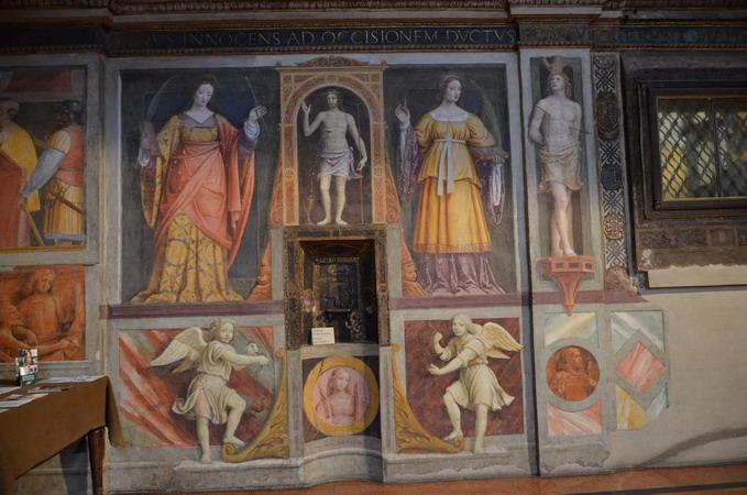 Милан.Фрески в церкви Сан-Маурицио