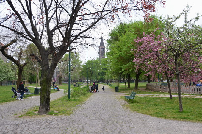 Милан. Парк базилик
