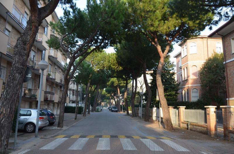Римини, На улице Венето