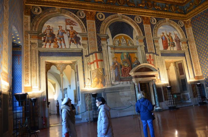 Палаццо Веккьо, в залах