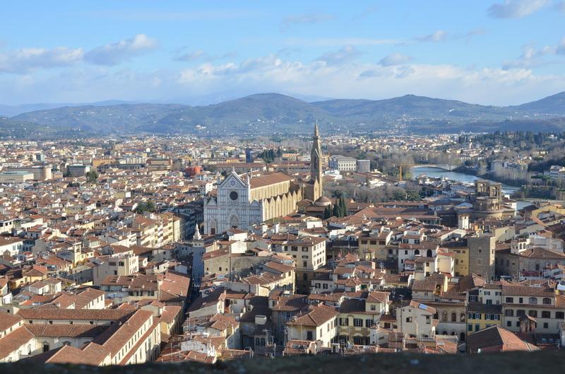 Вид на Флоренцию с башни Палаццо Веккьо