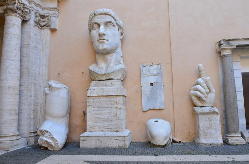 Капитолийские музеи, внутренний двор