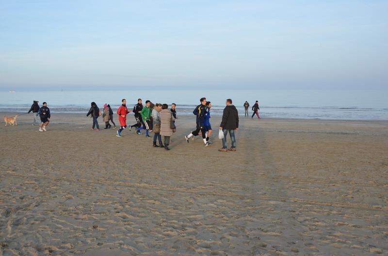 Римини в январе, пляж