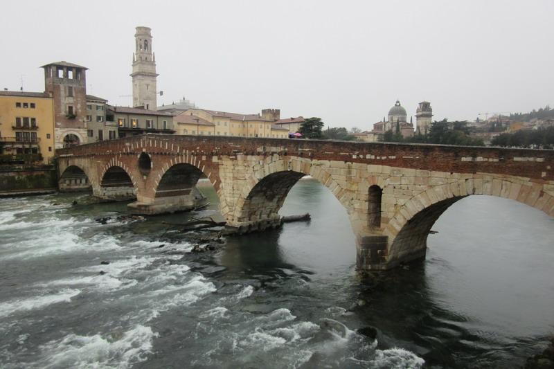 Верона Мост Сан-Пьетро