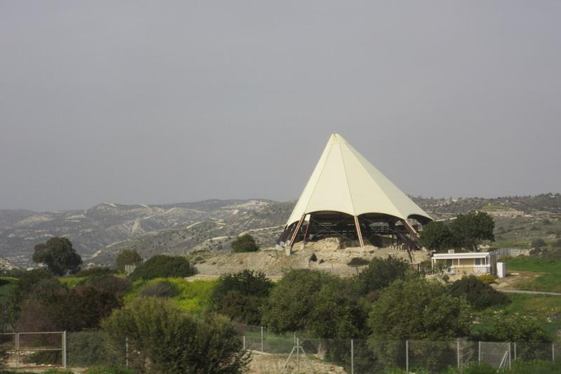 Палатка на плато