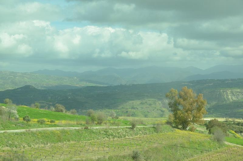 Дорога из Пафоса в Полис