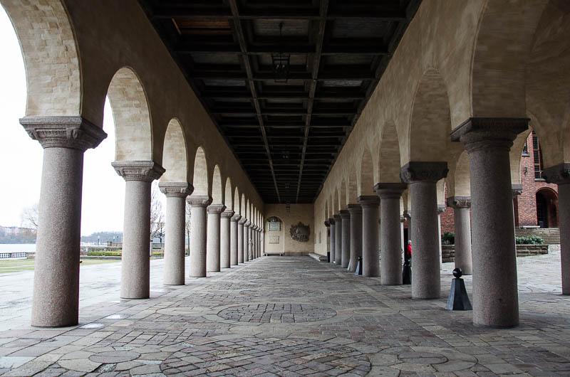 Стокгольм, ратуша, колоннада