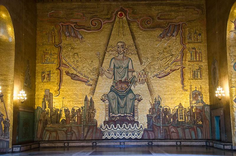 Ратуша, Золотой зал, королева Меларен