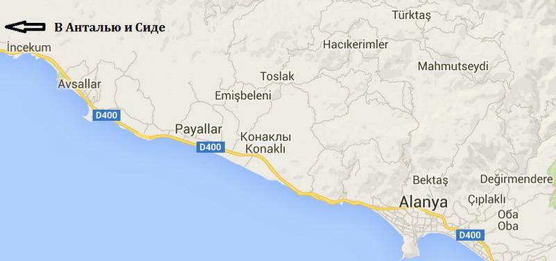 Карта Инжекум-Аланья