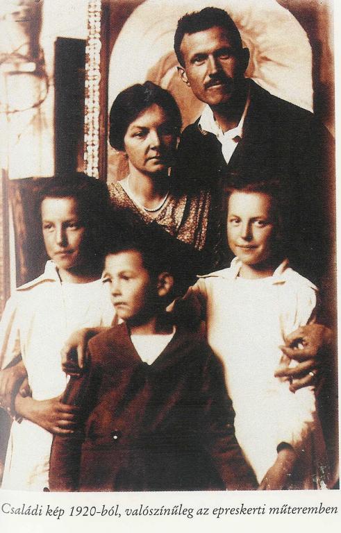 Йено Бори и его семья