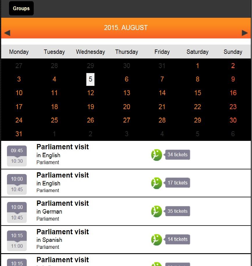 расписание экскурсий в парламент