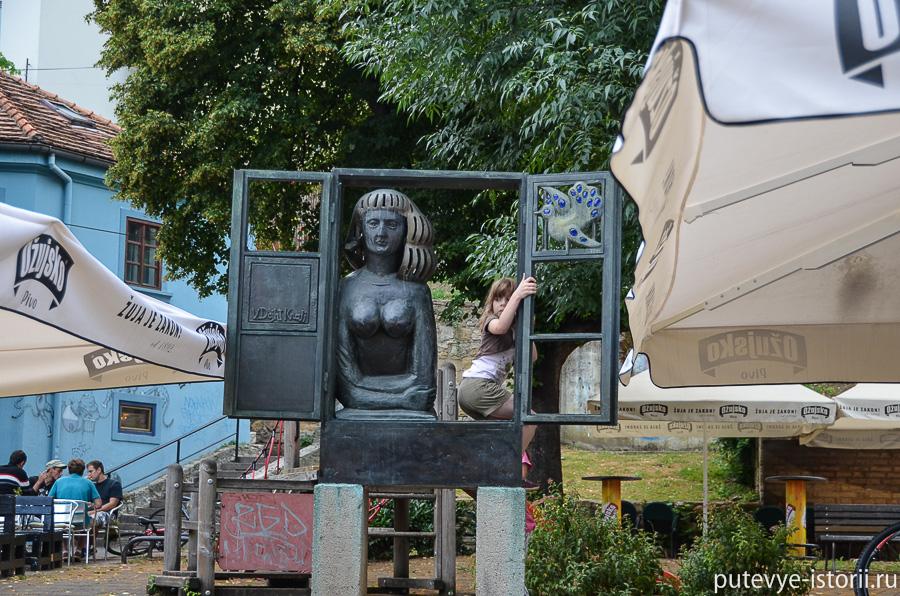 Загреб, памятник проститутке