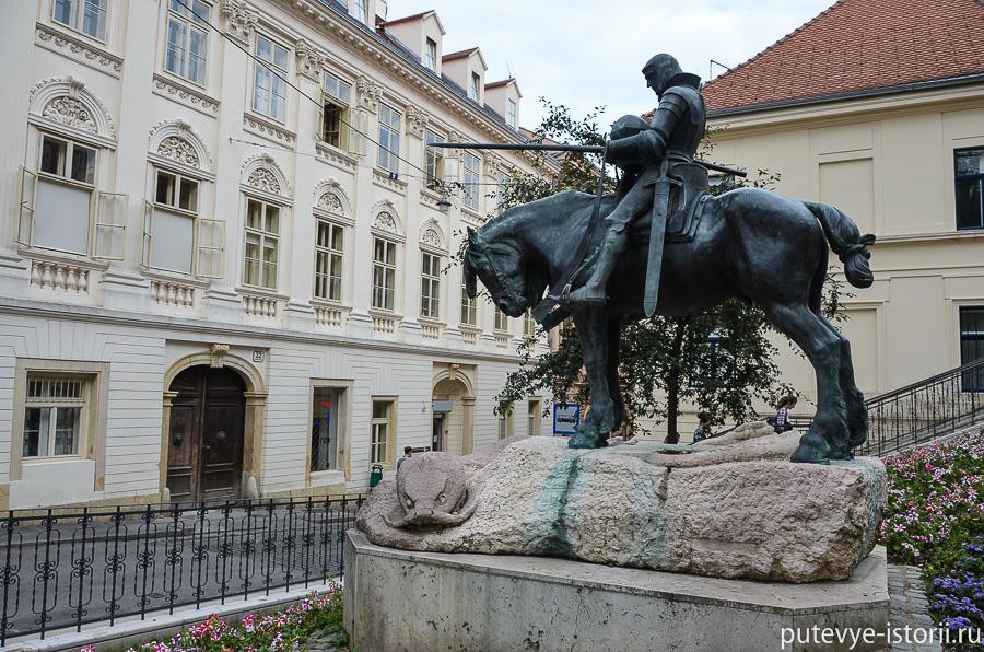 Загреб, памятник Георгию