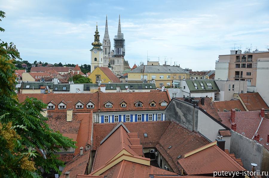 Загреб сверху