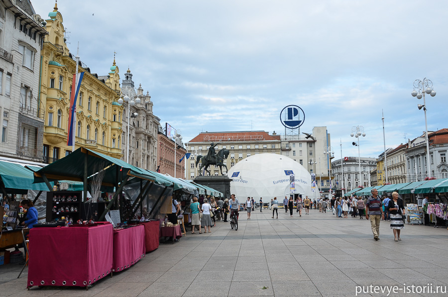 Загреб, площадь Йелачича