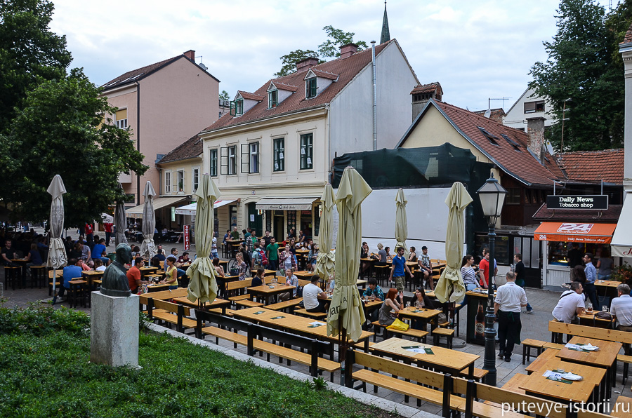 Загреб, кафе