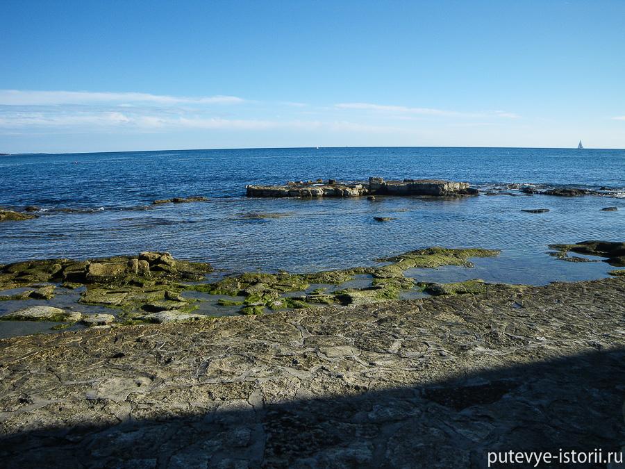 хорватия, заход в море