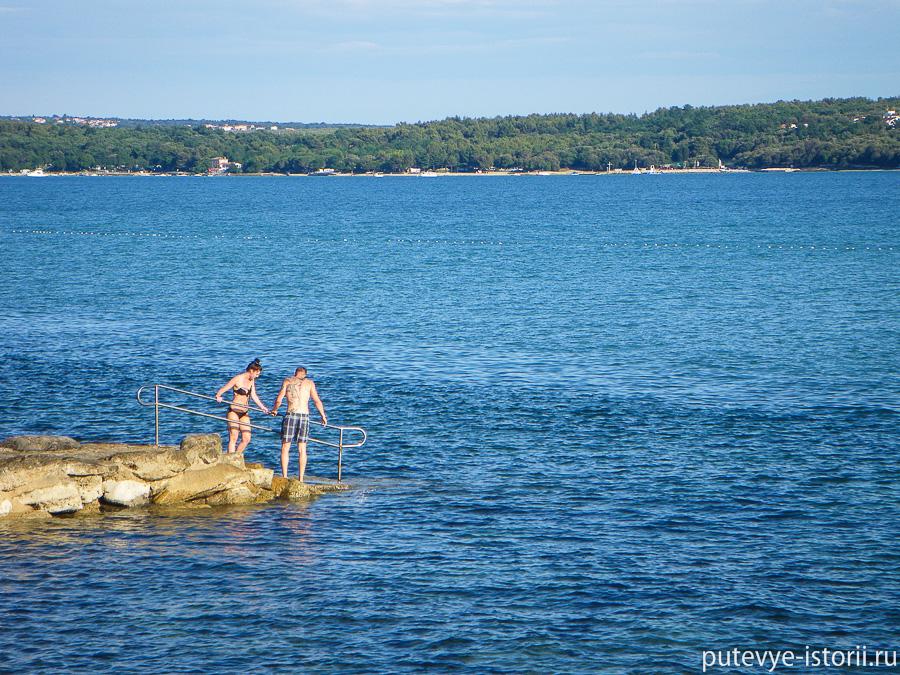 Новиград Хорватия пляж