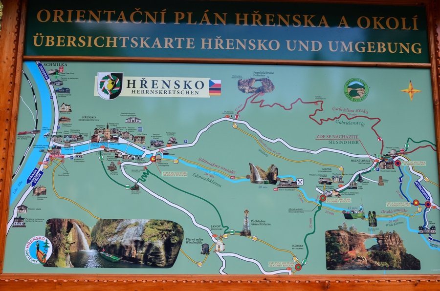 маршруты по национальному парку «Чешская Швейцария»