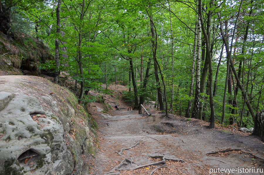 Бастайские скалы, тропа к Ратену
