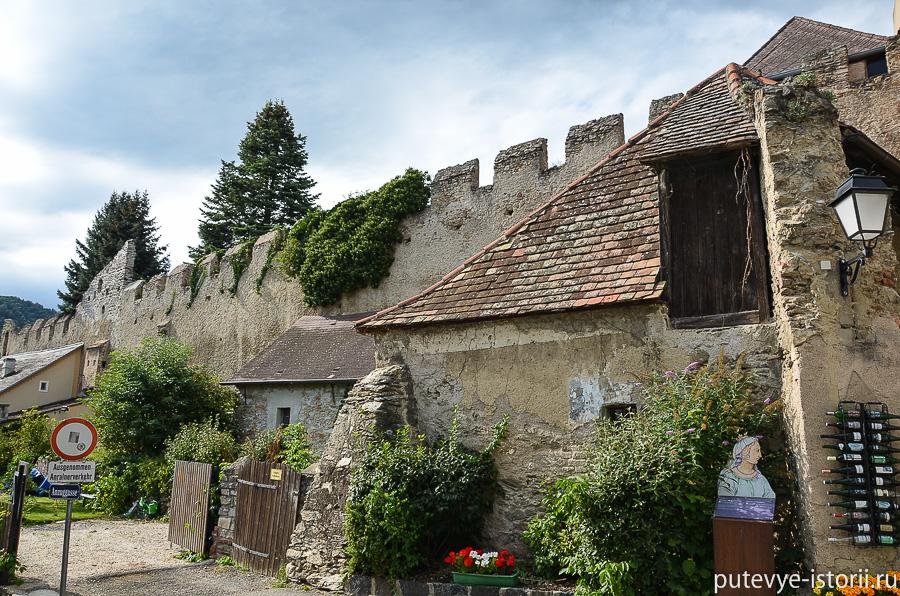 Дюрнштайн крепостная стена