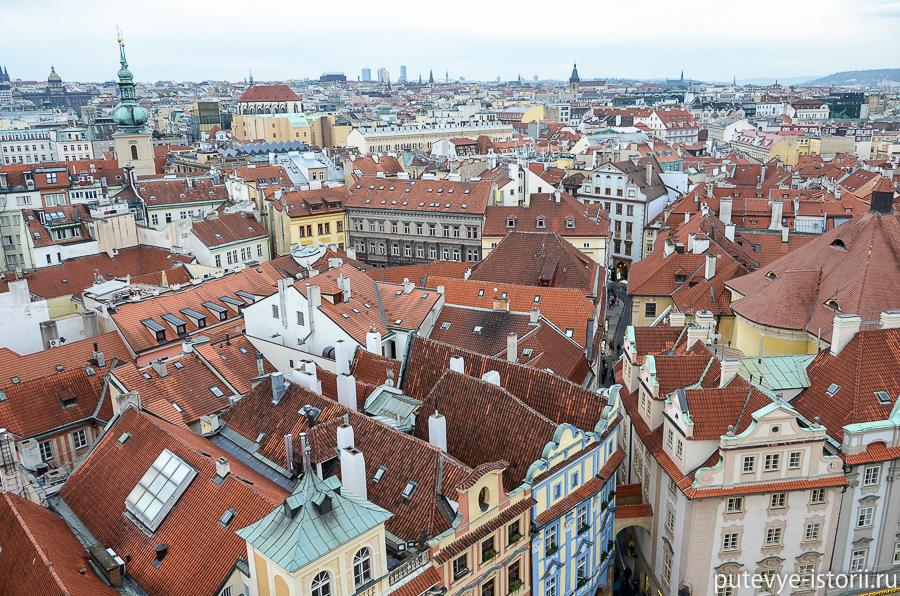 Вид на Прагу со Староместской ратуши