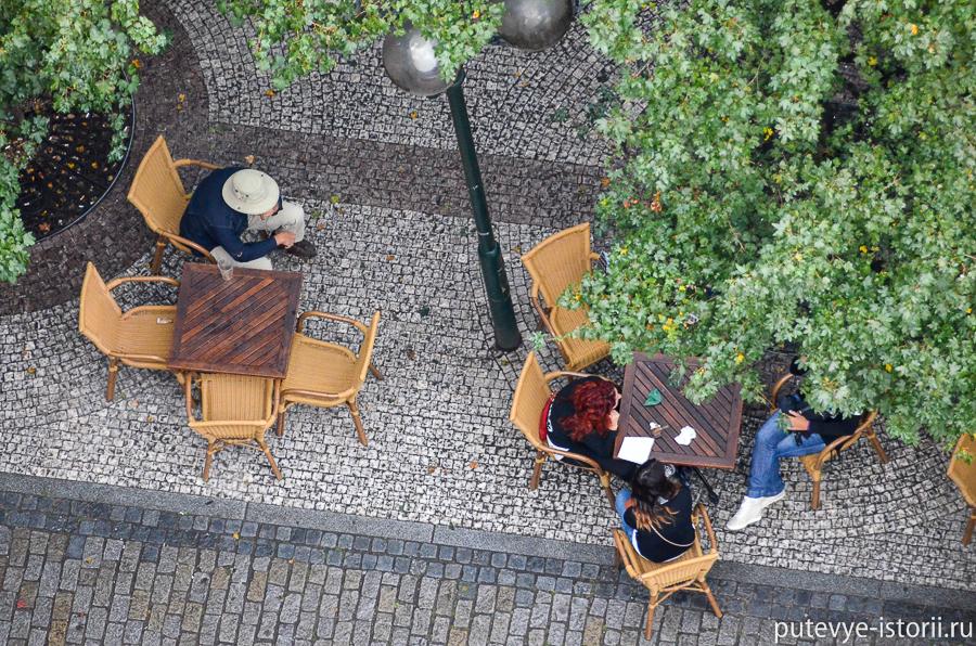 Летнее кафе на Староместской площади