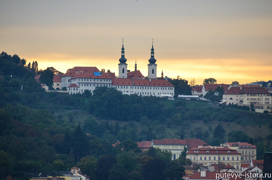 Страговский монастырь закат