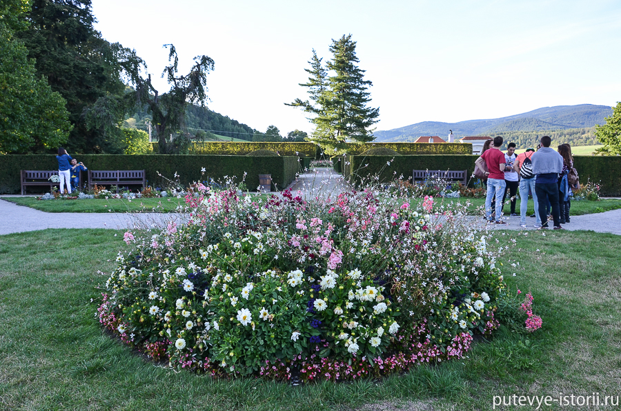 замковые сады в Крумлове