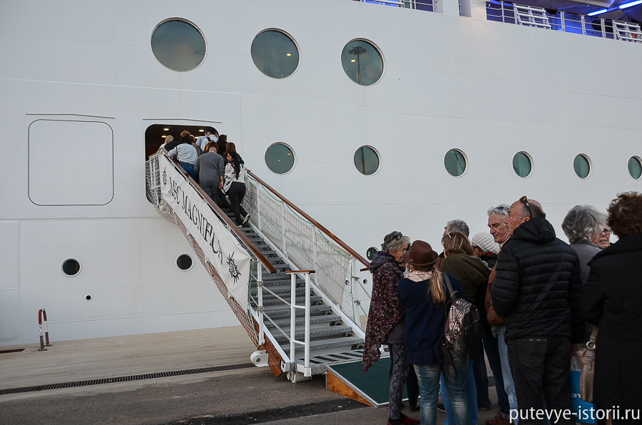 посадка на корабль