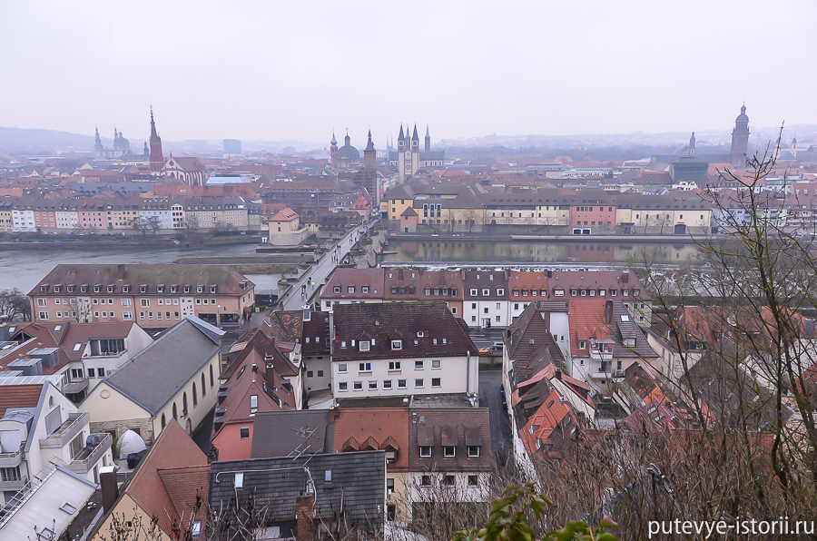 Вюрцбург. Вид с крепости Мариенберг