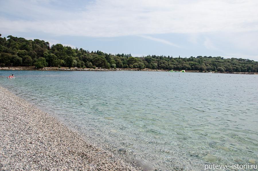 Ровинь пляж