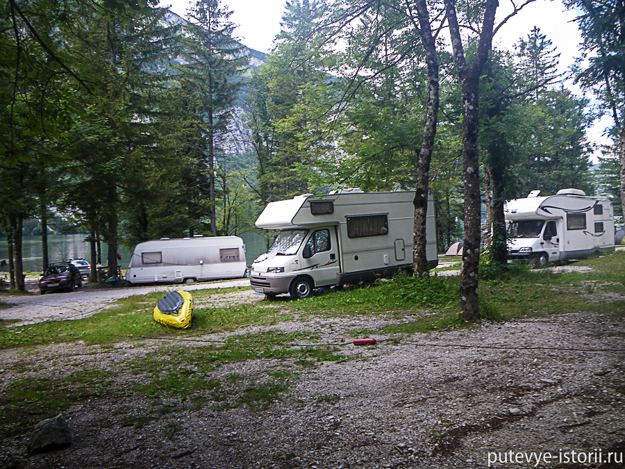 кемпинг уканц озеро Бохинь