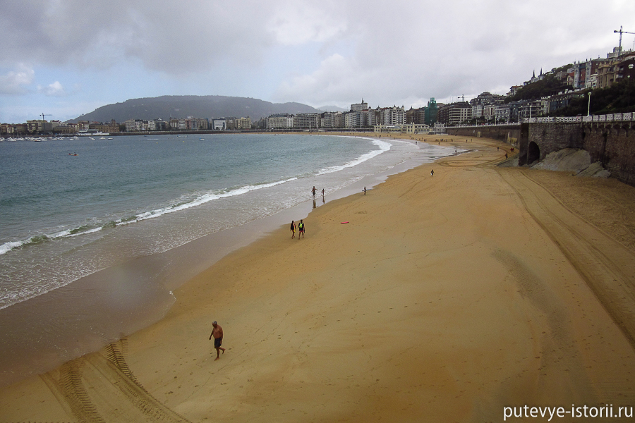 Сан Себастьян пляж Ла Конча