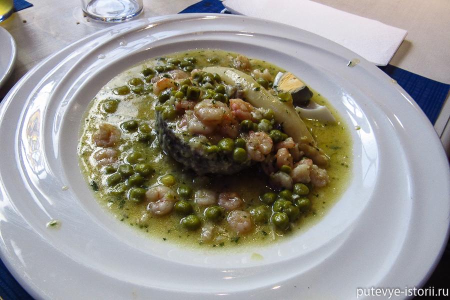 рыба с морепродуктами